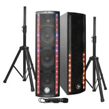 Parlante Activo Combo Stage Pack2000 Luz Led Bluetooth 200w