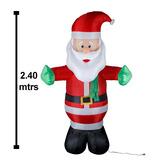 Inflable Navideño Santa Claus Movimiento Luz 2.4 Mtrs Envío