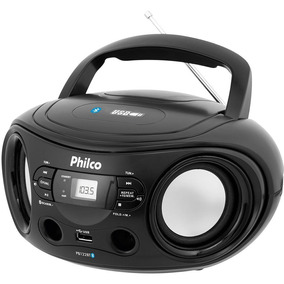 Som Portátil Philco Pb122bt Rádio Fm Mp3 Usb E Aux In - Pto