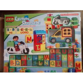 Juego De Cubos Con Letras Y Números, Más 1moto 1camioneta Y