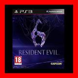 Resident Evil 6 Ps3 Digital