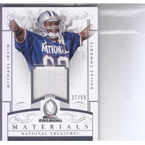 2014 National Treasures Pro Bowl Jersey Michael Irvin Wr /55