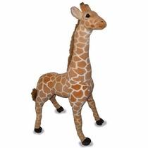 Hiper Girafa Gigante Pelucia 1,23 Metros Safari Selva Grande