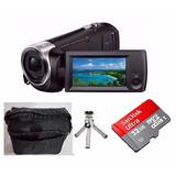 Filmadora Sony Hdr-cx440 Zoom 60x Wi-fi 8gb + Brindes +32gb