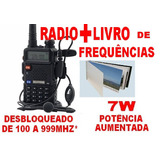Kit Radio Ht(uhf+vhf)uv-5r-100a999mhz!+ Llvro Frequencia