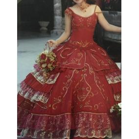 Vestido De Xv Años, Incluye Accesorios Y Ramo