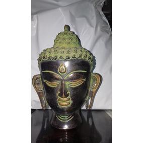 Cabeça De Buda Decoração Bronze Importada Índia De 19 Cm