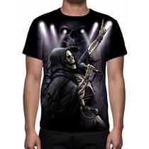 Camisa, Camiseta Grim Reaper Rock Live - Estampa Total