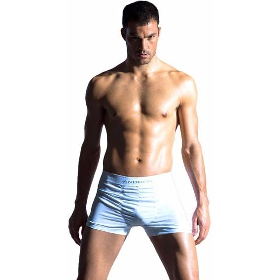4 Boxer Andros 5015 Algodon Sin Costura Ropa Interior Hombre