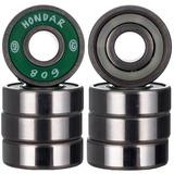 Juego De Rolamentos Hondar Skate Titanium Green X 5 Juegos