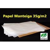 Papel Manteiga 50x70 C/ 400 Folhas 35g Cristal Mantega