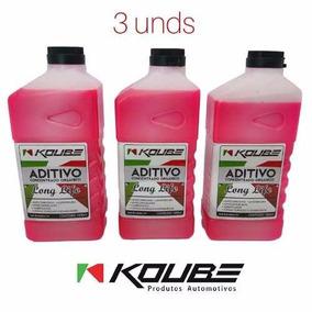 Kit 3 Aditivo Radiador Koube Orgânico Long Life Concentrado