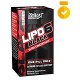 Lipo 6 Black Nutrex Termogênico Ultra Uc 60 Cps Versao Usa