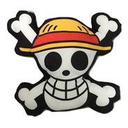 Almofada 3d Caveira One Piece Mugiwara Piratas Chapéu Palha