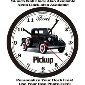 1935 Ford Media Tonelada Pared Capturar Reloj Libre De Ee.u