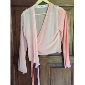 Camisa Gasa Rosa Transparente Maria Vazquez M