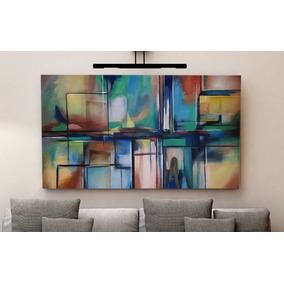 Cuadros modernos turquesa y blanco cuadros abstractos en for Lienzos decorativos modernos