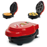 Grill Omeleteira Crepeira E Waffle Mickey Mallory 5 Em 1