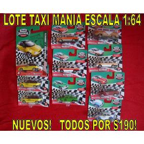 Lote Coleccion Taxi Mania Mexico Chevy Tsuru Nuevos