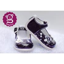Zapatos No Tuerce Bebé Niña - Negro Mariposas