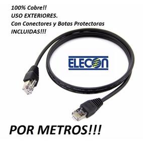 Cable Utp Cat5e Intemperie Exterior Conector Bota Incluida!!