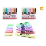 Marcadores Trabi Big Brush Punta Pincel X10 Colores Pastel