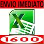 1600 Planilhas Excel Para Vários Trabalhos