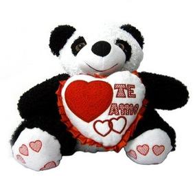 Oso Panda Con Corazon De 40 Cms