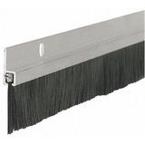 Zocalo Con Cepillo Para Puertas 1 Mts Aluminio Milenium