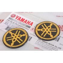 Logo Adesivo Emblema Tanque Yamaha Dourado Original 45mm R1