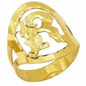 Anel Letra Inicial Oval Ouro 18k - 3.5gr Frete Gratis