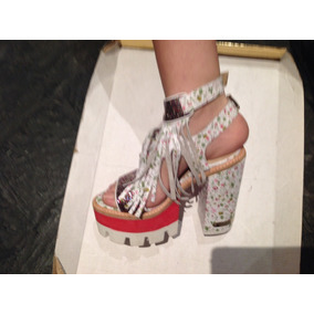 Sandalia Con Flecos,glitter,pulsera Doble