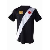 Camisa Polo Vasco Da Gama Preta Retrô Libertadores 1998 Top