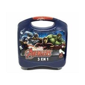 Lunchera Plastica Avengers 3 En 1 Nenes 35870 Educando