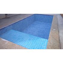 Azulejo Para Piscina Cor: Mesclado Itapuã Azul 10x10 Telado