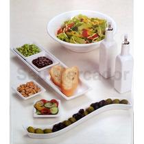Kit De Servir Com Petisqueira Galheteiro Tigela De Cerâmica