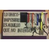 Medallero Running En Madera. Ideal Para Maratonistas