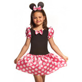 Fantasia Carnaval Infantil Minnie Miney Minie Pronta Entrega