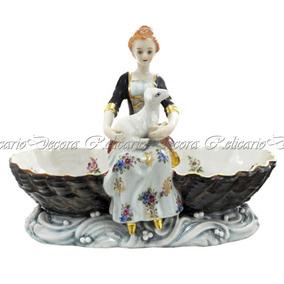 Saboneteira Porcelana Biscuit Nobre Dama E Ovelha Qualidade