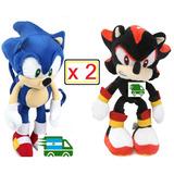 Peluches Sonic X 2. Shadow. The Hedgehog. Mercadoenvios