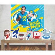 Kit Painel Poli Banner + Displays Festa Lucas Neto