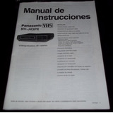 Manual Videocassetera Vhs Panasonic Nvj43px Casi Nuevo!