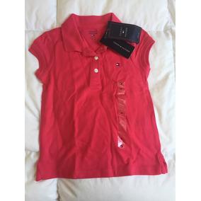 Camisa Polo Infantil Feminina Original Tommy Hilfiger