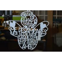 Angel De Mi Guarda 50 X 50 Cm Mdf Blanco