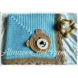 Mantilla Manta Para Bebes Tejida A Crochet Modelo Benicio
