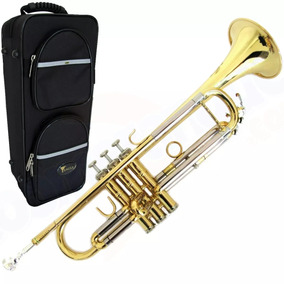 Trompete Eagle Laqueado Tr504 Em Sib Acompanha Case De Luxo!