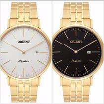 Relógio Orient Masculino Slim Vidro De Safira Mgsss004 P1kx