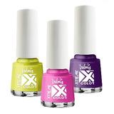 Kit Xtreme Color De 4 Pintura De Unas Esmaltes Valmy