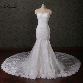 Vestido De Noivas 25157 Luxo Atraente Tulle Bordado Sereia
