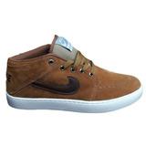 Tênis Sapato Nike Cano Baixo Suketo Mid Leather Masculino
